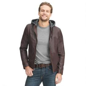 Wilsons Leather Vintage Hooded Center Zip Leather