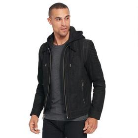 Wilsons Leather Vintage Hooded Genuine Leather Jac