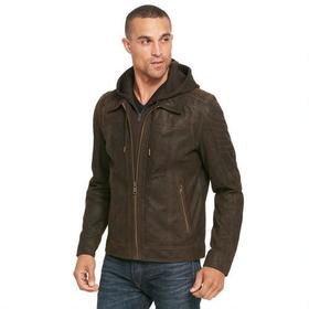 Big & Tall Wilsons Leather Vintage Hooded Genuine