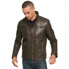 Wilsons Leather Vintage Leather Jacket with Seam D