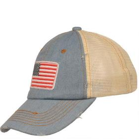 Marc New York American Flag Baseball Hat w/ Mesh a