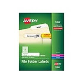 Avery TrueBlock Laser/Inkjet File Folder Labels, 2