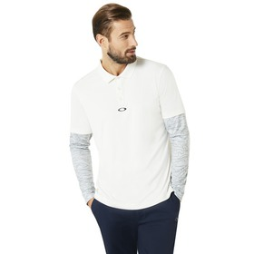 Oakley Polo Shirt LS Printed Sleeve - Forged Iron