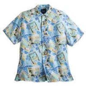 Disney Mickey Mouse and Friends Silk Shirt for Men