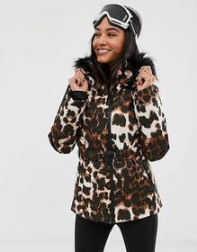 ASOS 4505 ski mix and match jacket with belt and p