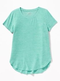 Ultra-Soft Breathe ON Built-In Flex Tulip-Hem Tee