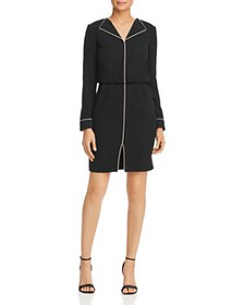 Armani - Piped Lapeled Mini Dress