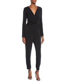 Nicole Miller New York Wrapped-Front Matte-Jersey