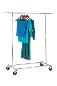 Honey-Can-Do Chrome Collapsible Garment Rack