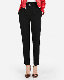 Express high waisted belted waist ankle pant