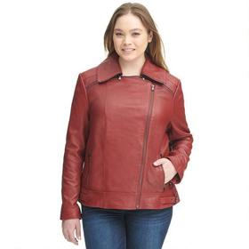 Plus Size Wilsons Leather Zipper Collar Lamb Cycle