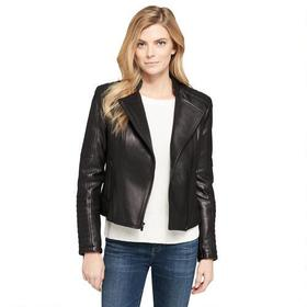 Wilsons Leather Vintage Quilted Leather Moto Jacke