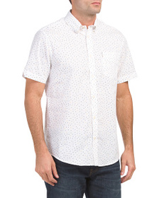 BEN SHERMAN Short Sleeve Triangle Print Shirt