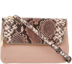 """""""As Is"""" G.I.L.I. Leather 2-in-1 Crossbody - A34655"""