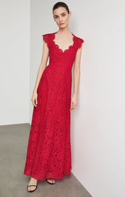 BCBG Scalloped Lace Gown