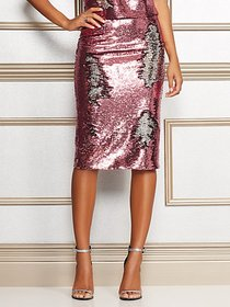 Kat Pink Sequin Skirt - Eva Mendes Collection - Ne