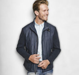 Johnston Murphy Knit-Back Quilted Jacket