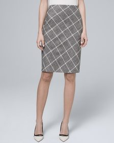 Plaid Suiting Pencil Skirt