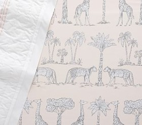 Pottery Barn Organic Grand Safari Crib Fitted Shee