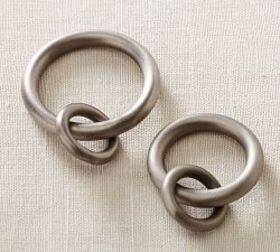 Pottery Barn Vintage Round Rings - Antique Pewter
