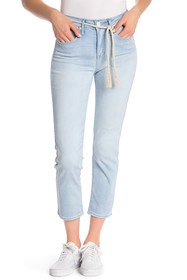 Seven7 High Rise Rope Tie Skinny Jeans