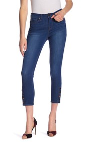 Seven7 Mid Rise Snap Button Ankle Jeans