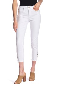 Seven7 Mid Rise Snap Button Ankle Skinny Jeans