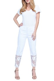 Seven7 High Rise Lace Panel Jeans