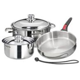 """Magma 7-Piece """"Nesting"""" Stainless Steel Induction"""