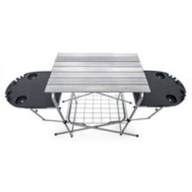 Deluxe Grilling Table w/Plastic Side Tables