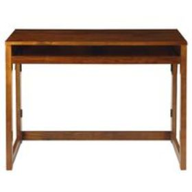 Folding Desk with Pull-Out & USB Port, Brown