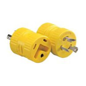 One-Piece Generator Adapter, 20 Amp 3-Prong Male t