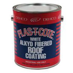 Alkyd Fibered Roof Coating, White, 1 Gallon