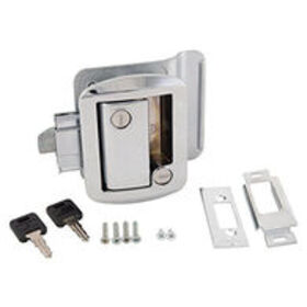 Replacement Door Lock for Travel Trailers, Chrome