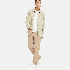 MEN VINTAGE REGULAR-FIT CHINO FLAT-FRONT PANTS