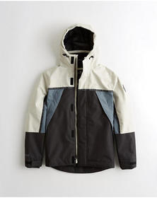 Hollister Mesh-Lined Jacket, CREAM AND BLACK