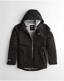 Hollister Mesh-Lined Jacket, BLACK