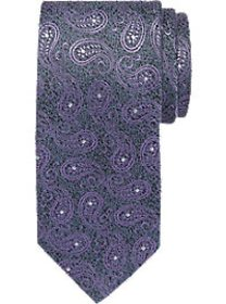 Joseph Abboud Gray & Purple Paisley Narrow Tie