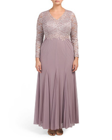 b8c2fc874152d DECODE 1.8 Plus Gown With Embroidered Bodice