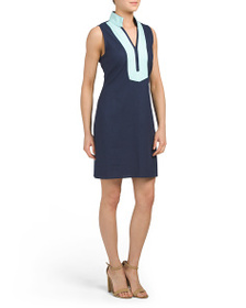 SAIL TO SABLE Classic Tunic Linen Blend Dress