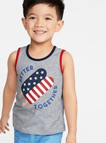 Americana-Graphic Tank for Toddler Boys