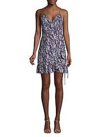 Free People All My Love Printed Wrap Dress BLUE