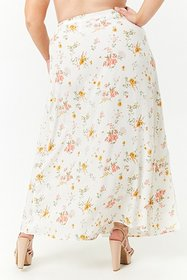 Forever21 Plus Size Floral Maxi Wrap Skirt