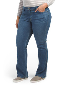 JAMES JEANS Plus Made In Usa Slim Boot Cut Jeans