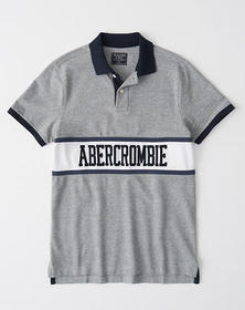 Colorblock Logo Stretch Polo, HEATHER GREY WITH ST