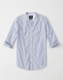 Super Slim Striped Icon Poplin Shirt, BLUE STRIPE