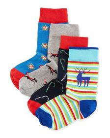 Neiman Marcus Kids' Holiday Sock Gift Box Set