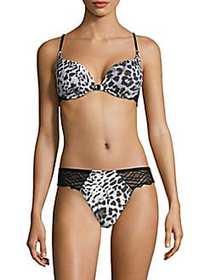 Cosabella Graphic Print Push Up Bra SILVER LEOPARD