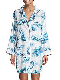 Saks Fifth Avenue COLLECTION Palm Print Sateen Sle