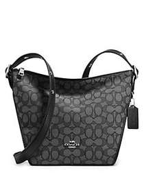 COACH Signature Small Dufflette BLACK